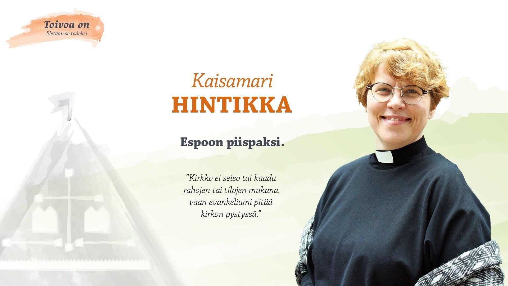 Kaisamari Hintikka Espoon piispaksi
